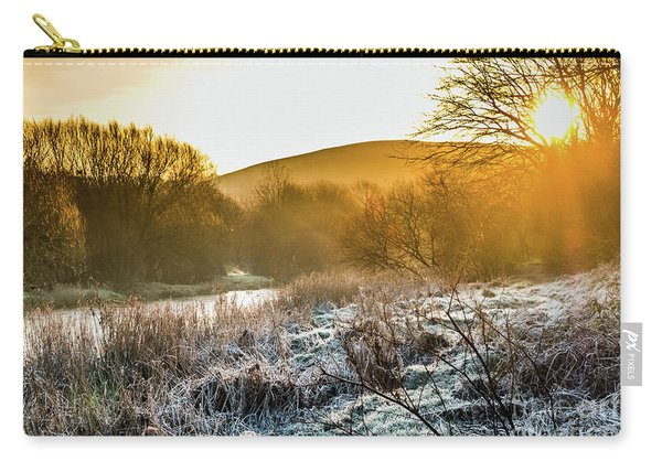 Frosty Dawn On The River Rheidol Carry-all Pouch