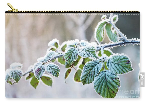 Frosty Leaves Carry-all Pouch