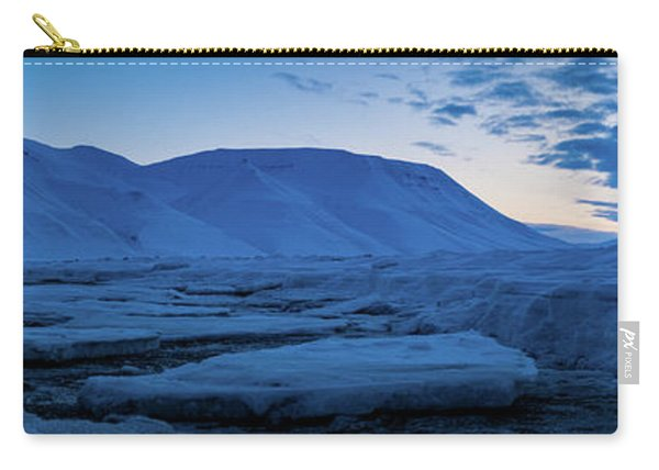 frozen coastline near Longyearbyen Carry-all Pouch