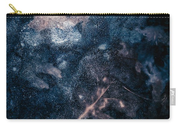 Carry-all Pouch featuring the photograph Frozen Leaves by Allin Sorenson