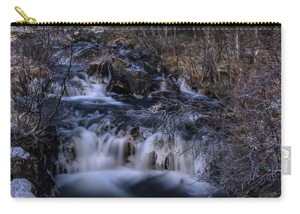 Frozen River In Forest - Long Exposure With Nd Filter Carry-all Pouch