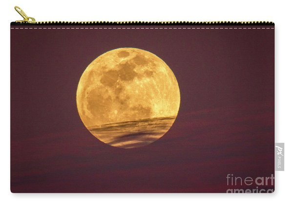 Carry-all Pouch featuring the photograph Full Moon Above Clouds by Tom Claud