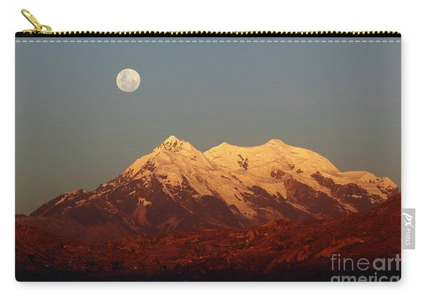 Full Moon Rise Over Mt Illimani Carry-all Pouch
