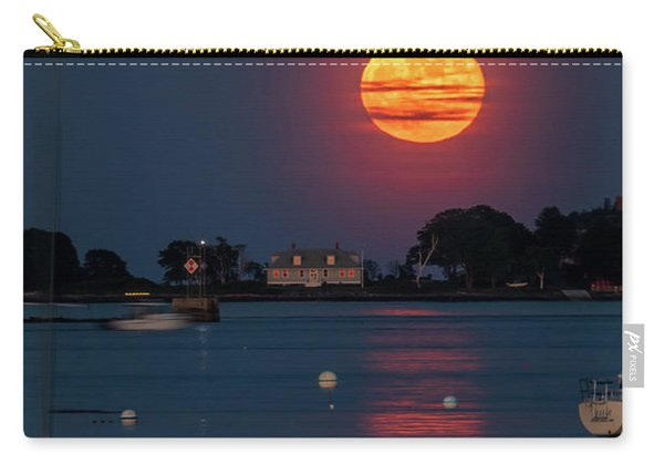 Full Strawberry Moon Rise Carry-all Pouch