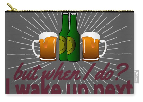 Funny Beer Party Lover Snob Quote On Beergarden Beerpong Whore Design Carry-all Pouch