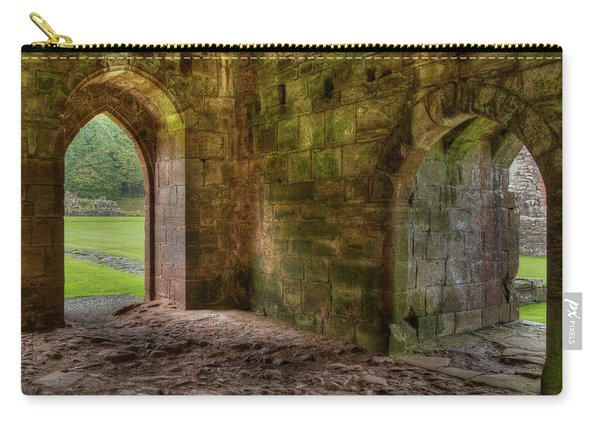 Carry-all Pouch featuring the photograph Furness Abbey Arches by Dennis Dame