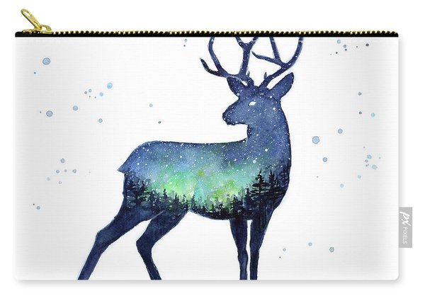 Galaxy Reindeer Silhouette Carry-all Pouch