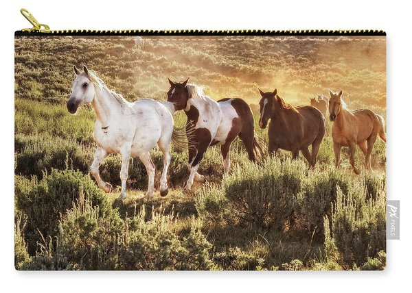 Galloping Down The Mountain Carry-all Pouch