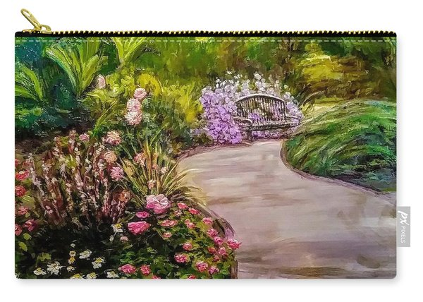 Path To The Garden Bench At Evergreen Arboretum Carry-all Pouch