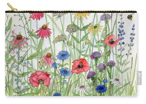 Garden Flower Medley Watercolor Carry-all Pouch