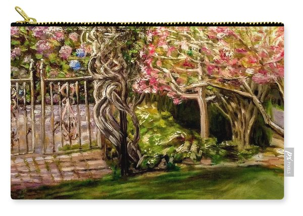 Garden Gate At Evergreen Arboretum Carry-all Pouch