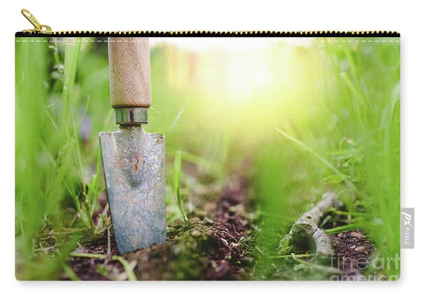 Gardening Shovel In An Orchard During The Gardener's Rest Carry-all Pouch