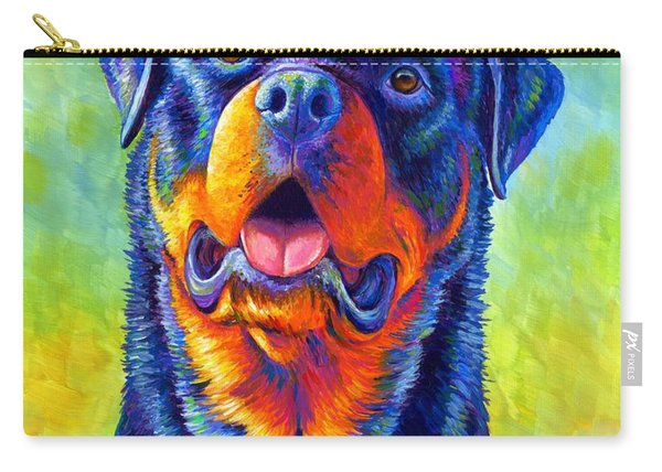 Gentle Guardian Colorful Rottweiler Dog Carry-all Pouch