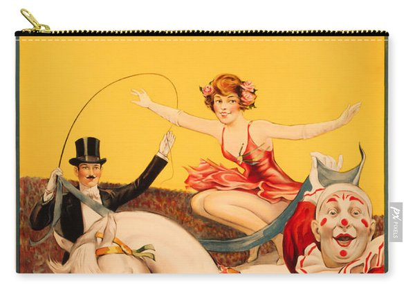 Gentry Brothers Circus Poster - Miss Louise Hilton - Vintage Ad Carry-all Pouch