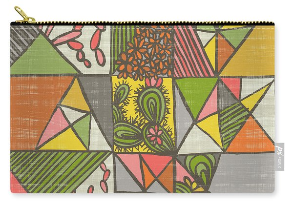 Geometric Flowering Cacti Carry-all Pouch