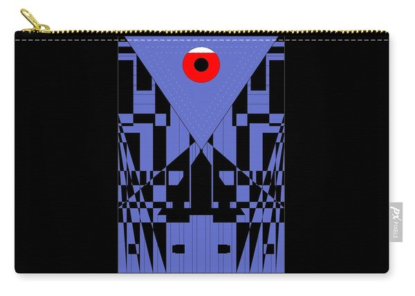 Geometric Red Dot  Carry-all Pouch