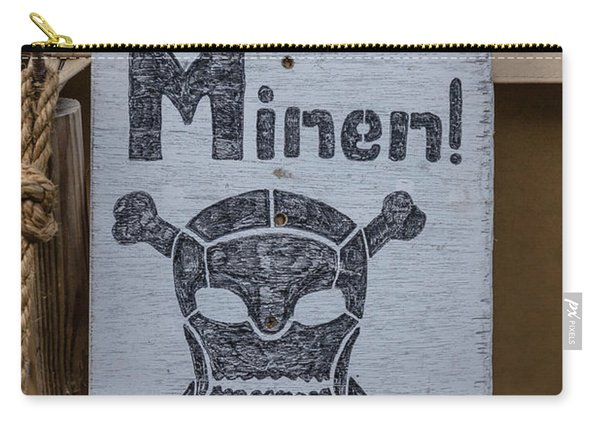 German Mine Warning Sign From World War II Carry-all Pouch