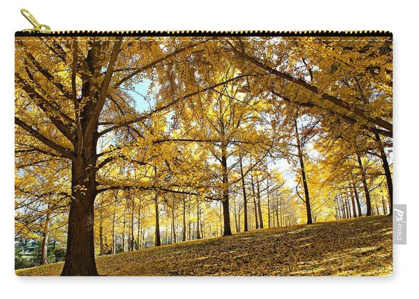 Carry-all Pouch featuring the photograph Ginkgo Grove by Candice Trimble