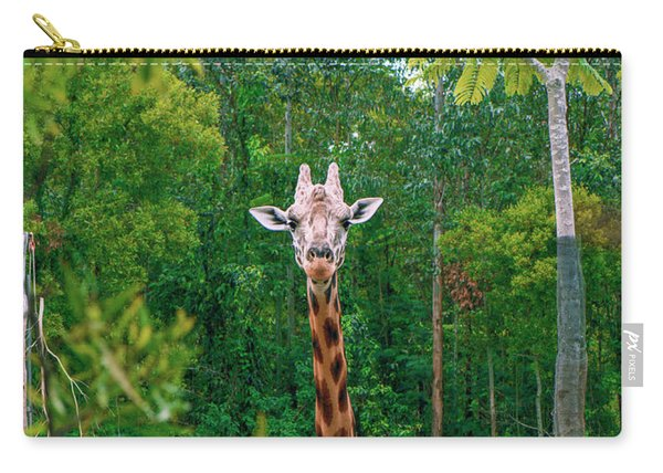 Giraffe Looking For Food During The Daytime. Carry-all Pouch