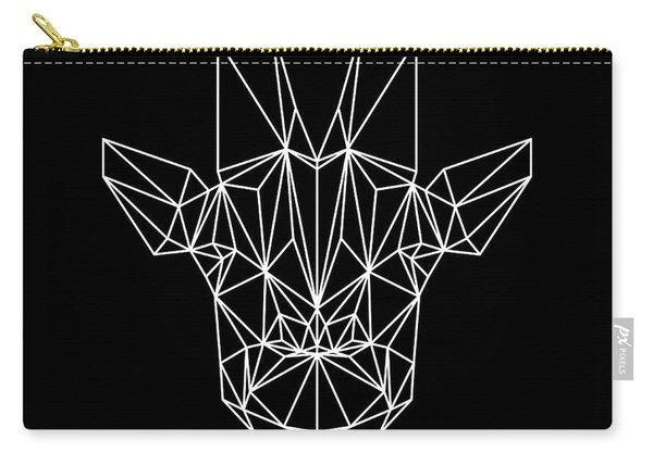 Giraffe On Black Carry-all Pouch