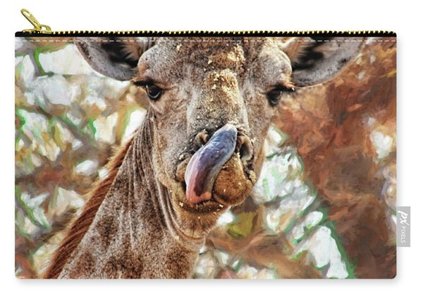 Giraffe Says Yum Carry-all Pouch