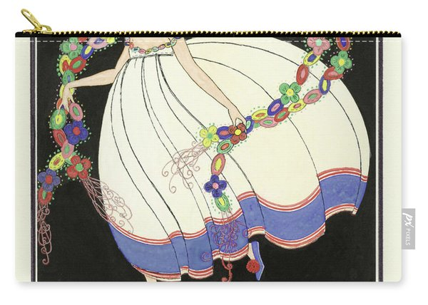 Girl Dancing With A Double Garland Carry-all Pouch