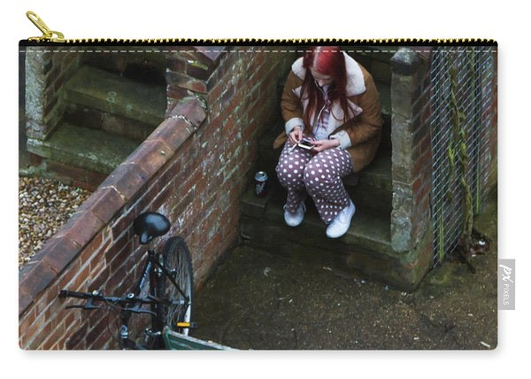 Girl On A Phone Carry-all Pouch