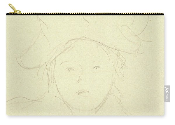 Girl With A Hat, 1889 Carry-all Pouch