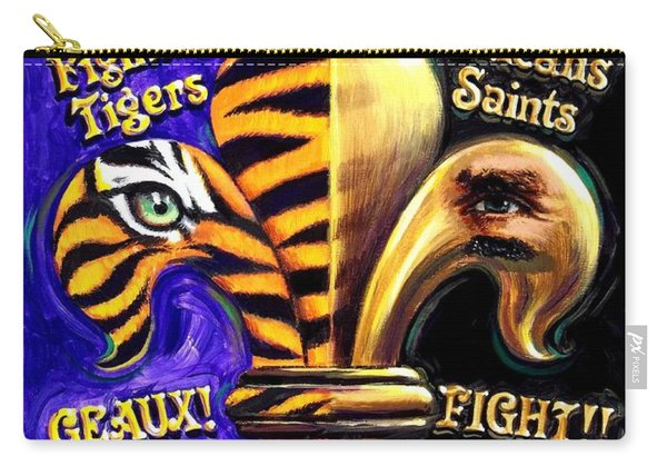 God Bless Our Tigers And Saints Carry-all Pouch