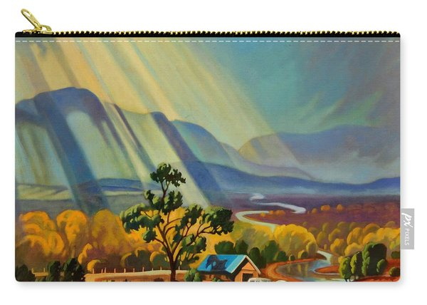 God Rays On A Blue Roof Carry-all Pouch