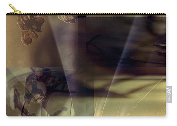 Gold Brown Tan Abstract Carry-all Pouch