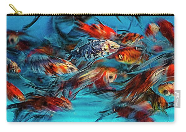 Gold Fish Abstract Carry-all Pouch