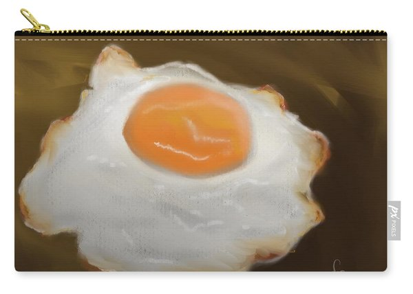 Carry-all Pouch featuring the pastel Golden Fried Egg by Fe Jones