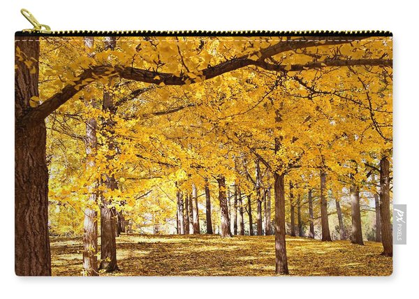 Carry-all Pouch featuring the photograph Golden Ginkgo by Candice Trimble