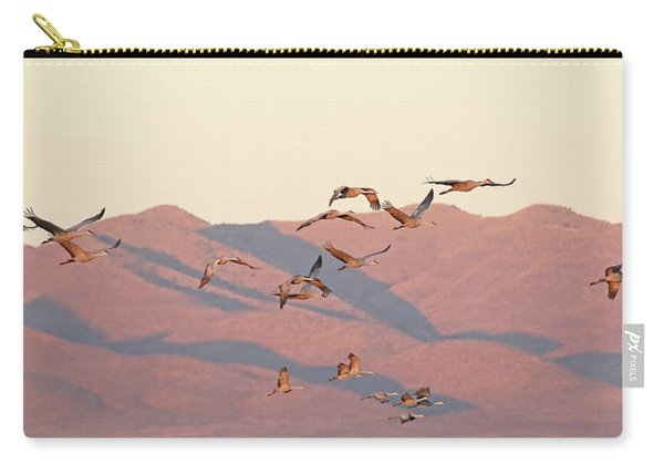 Carry-all Pouch featuring the photograph Golden Hour Light by Jean Clark