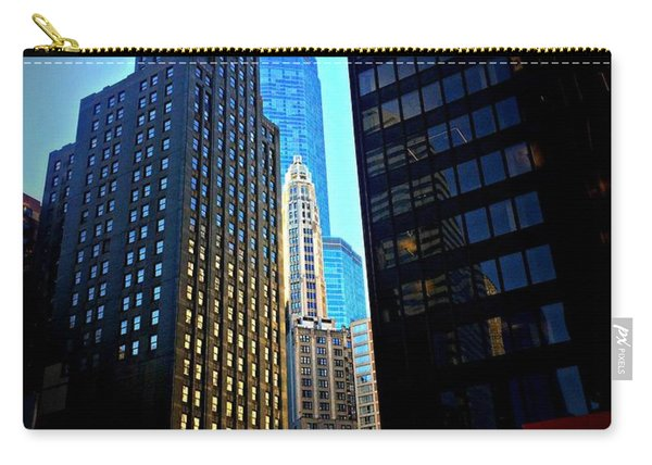 Golden Hour Reflections - City Of Chicago Carry-all Pouch
