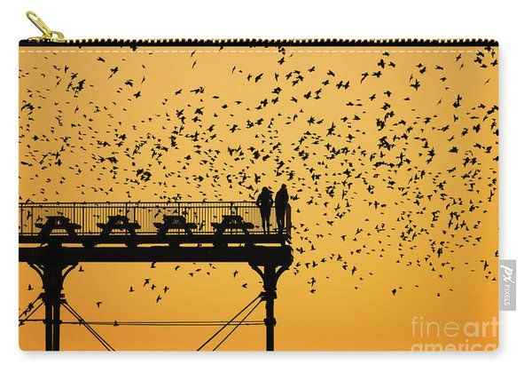 Golden Hour Starlings Over Aberyswyth Pier Carry-all Pouch