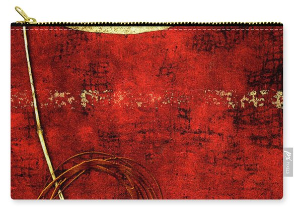 Golden Leaf On Bright Red Paper Carry-all Pouch