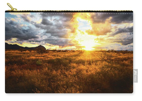 Golden Light Of Southern Arizona Carry-all Pouch