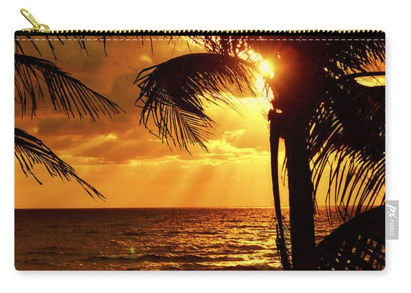 Golden Palm Sunrise Carry-all Pouch
