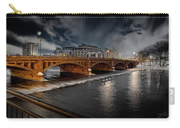 Golden Pearl Street Bridge Grand Rapids Carry-all Pouch