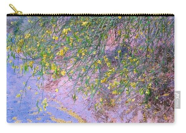 Golden Petals In A Desert Wash Carry-all Pouch