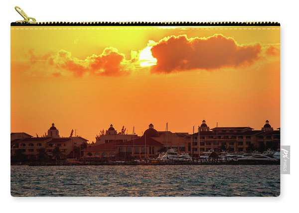 Golden Sky In Cancun Carry-all Pouch