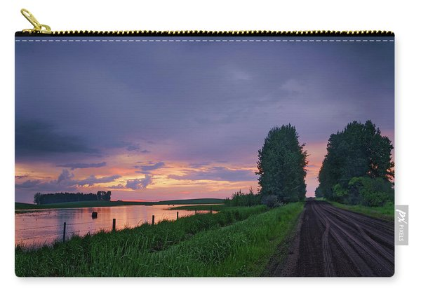 Golden Sunset Near Westlock Carry-all Pouch