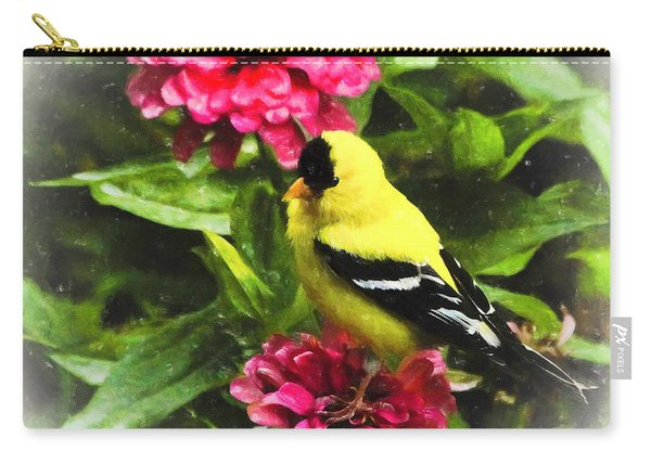 Goldfinches Love Zinnias Carry-all Pouch