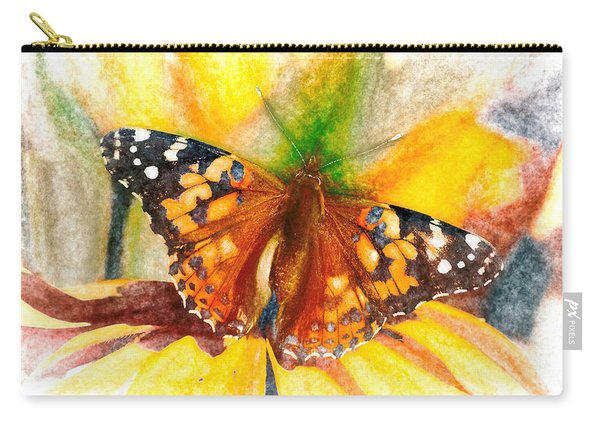 Carry-all Pouch featuring the photograph Gorgeous Painted Lady Butterfly by Don Northup
