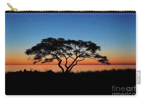 Graduated Sunrise Silhouette Carry-all Pouch