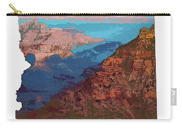 Grand Canyon In The Shape Of Arizona Carry-all Pouch