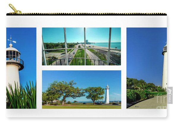 Grand Old Lighthouse Biloxi Ms Collage A1a Carry-all Pouch