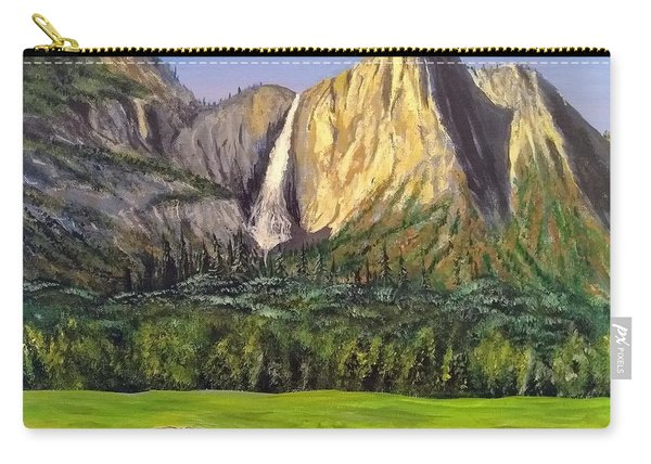 Carry-all Pouch featuring the painting Grandeur And Extinction by Kevin Daly